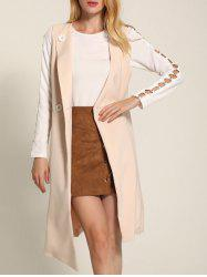 One Button Long Asymmetric Waistcoat -
