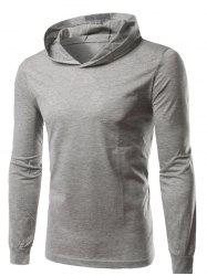 Hooded Long Sleeve T-Shirt - GRAY