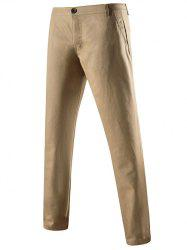 Mid-Rise Zipper Fly Pocket Back Skinny Chino Pants