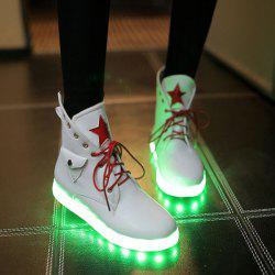Eyelet Star Led High Top Led Luminous Shoes