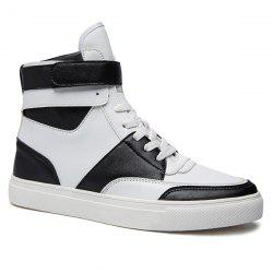 Casual PU Leather Lace-Up Boots - WHITE 43