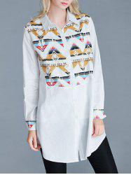 Long Loose Printed Shirt