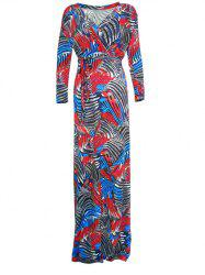 Wrap Printed Maxi Dress -