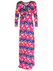 Wrap Eye Print Maxi Dress -