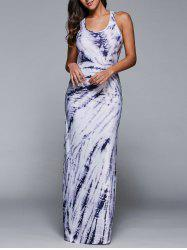 Printed Summer Casual Maxi Dresses - WHITE
