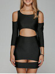 Cut Out Cold Shoulder Night Out Dress