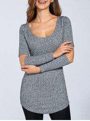 Long Sleeve Cut Out Sweater -