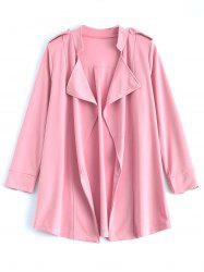 Ample manteau Patchwork Drapé Trench - ROSE PÂLE