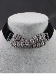 PU Leather Rhinestone Necklace