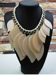 Geometry Leaves Statement Necklace