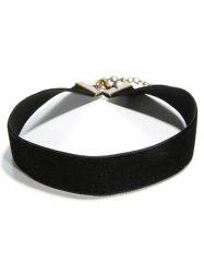Faux PU Leather Choker - BLACK