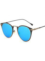 Cool Metal Cat Eye Mirrored Sunglasses - ICE BLUE
