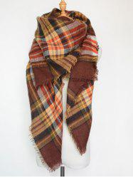 Winter Plaid Pattern Series Fringed Scarf