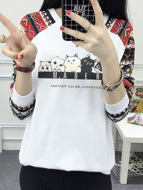 Unique Vintage Cute Print Sweatshirt