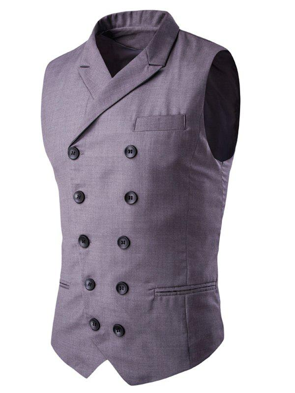 Store Lapel Collar Double Breasted Waistcoat