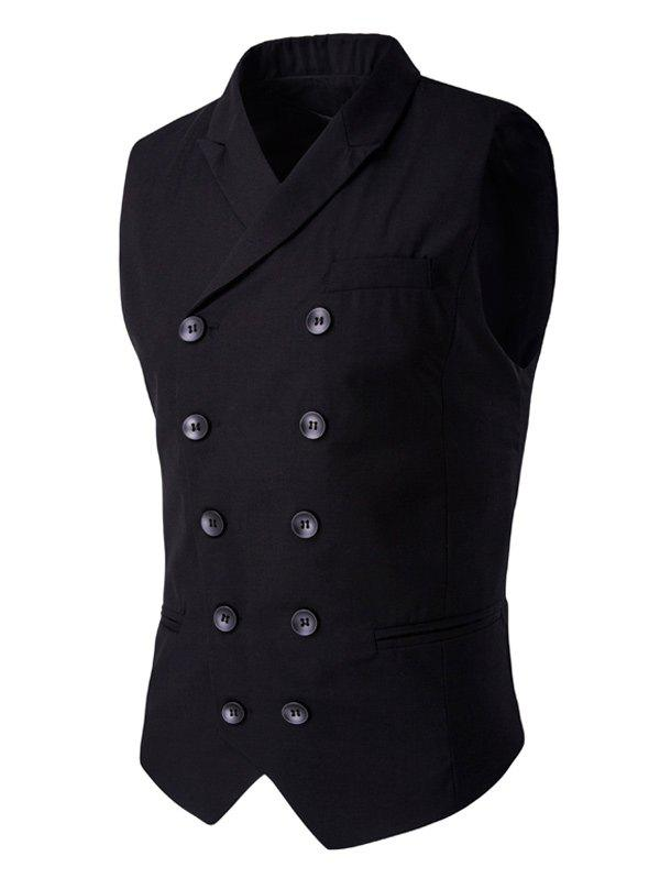 Discount Lapel Collar Double Breasted Waistcoat