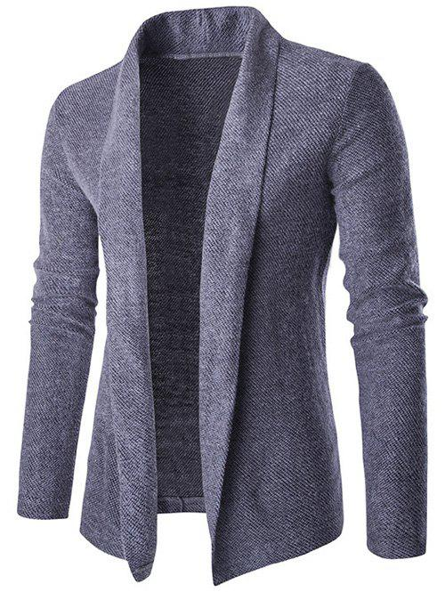 Buy Shawl Collar Long Drape Cardigan