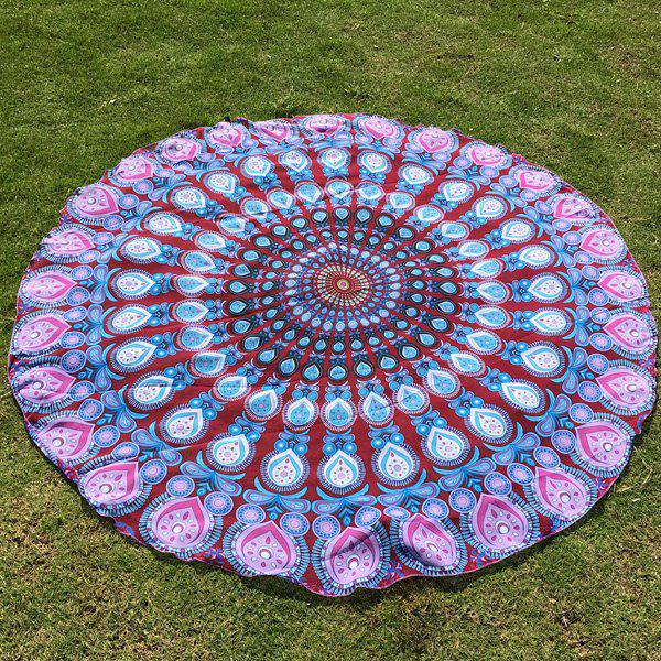 Autumn Feather Mandala Imprimer Plage ronde Throw
