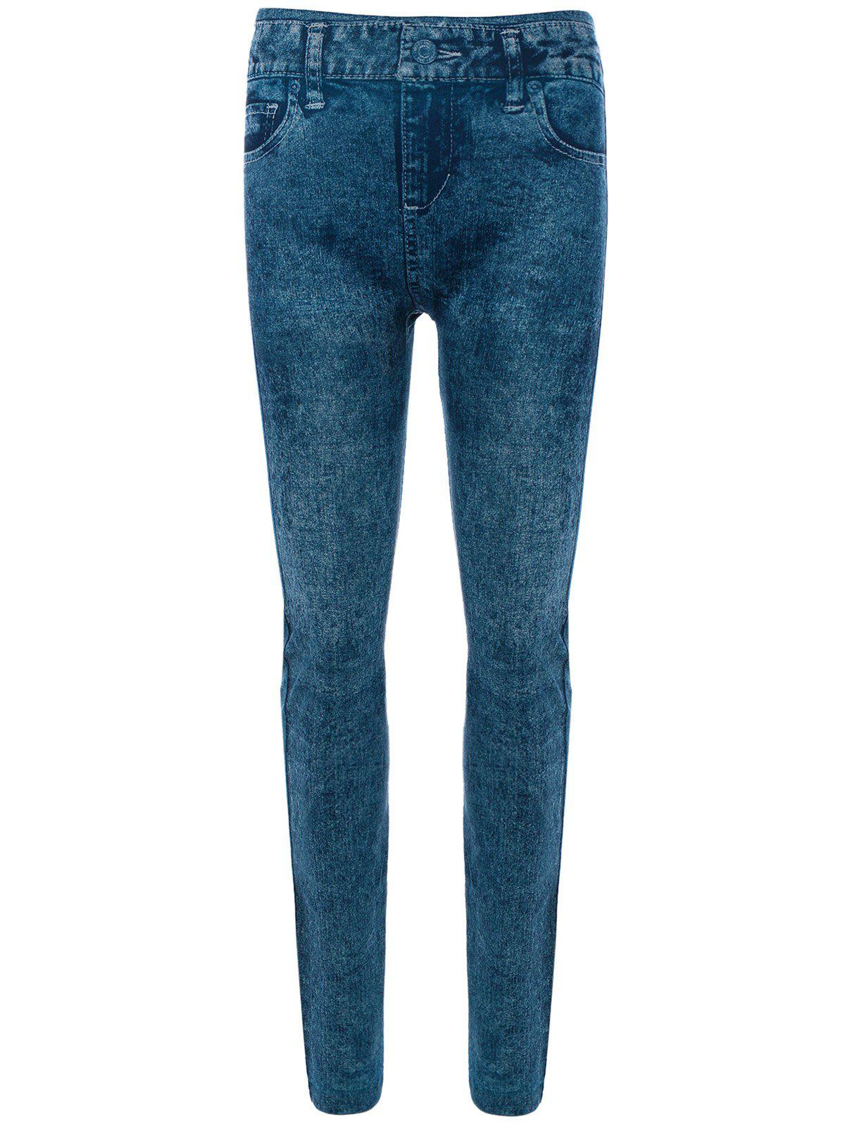 Sale Skinny Jeggings Faux Jean Leggings