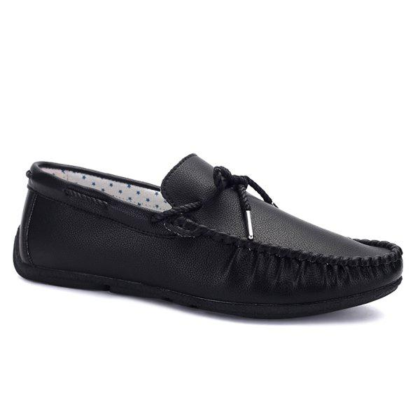 Trendy PU Leather Slip-On Casual Shoes