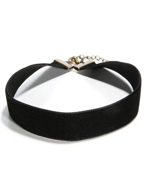 Faux PU Leather ChokerJEWELRY<br><br>Color: BLACK; Item Type: Chokers Necklace; Gender: For Women; Necklace Type: Leather Chain; Metal Type: Alloy; Style: Noble and Elegant; Shape/Pattern: Round; Weight: 0.030kg; Package Contents: 1 x Choker;