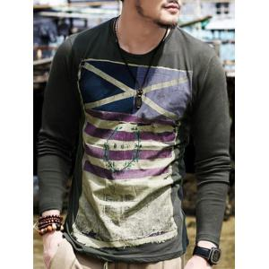 Long Sleeves Round Neck Graphic T-Shirt