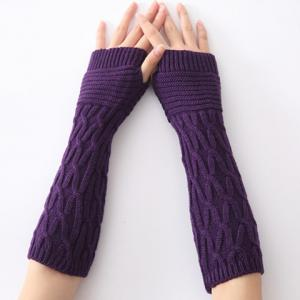Christmas Winter Criss-Cross Crochet Knit Arm Warmers