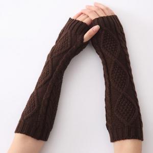 Christmas Winter Rhombus Crochet Knit Arm Warmers