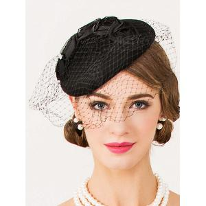 Sororal Party Flower Veil 1940s Fascinator Hat