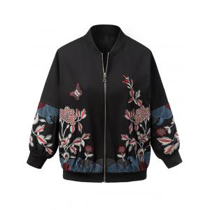 Vintage Butterfly Flower Embroidered Jacket