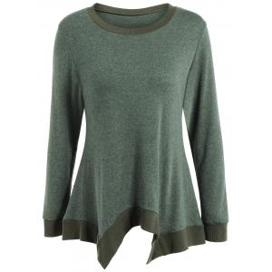 Autumn Covered Edge Asymmetric Pullover Knitwear