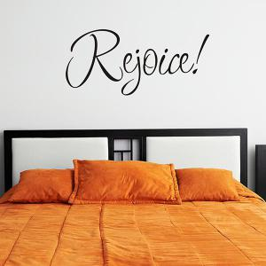 Christmas Rejoice Removeable Window Glass Wall Sticker