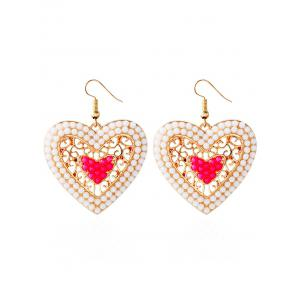 Bohemian Beads Love Heart Earrings
