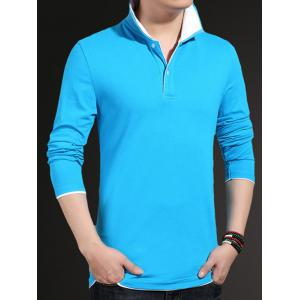 Plus Size Long Sleeve Polo Shirt