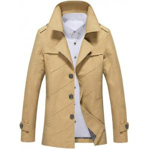 Single Breasted Long Sleeve Turn-Down Collar Jacket