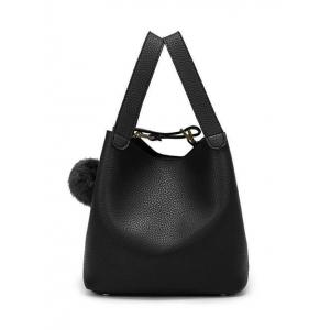 Textured Leather Magnetic Closure Metallic Tote Bag
