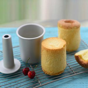 Aluminium Alloy Mini High Hollow Decorating 4 Inch High Chiffon Cake Mold - WHITE GOLDEN