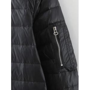 Stand Collar Zipped Down Coat -