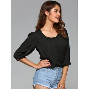 Half Sleeve Crop Blouse -