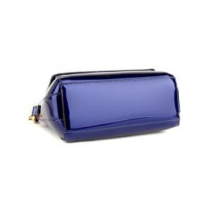 Magnetic Closure Sequins Flower Pattern Crossbody Bag - BLUE