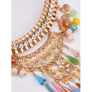Bohemia Tassel Chains Faux Crystal Rhinestone Jewelry Set - GOLDEN