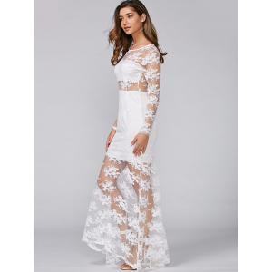 See-Through Lace Slimming Maxi Dress -