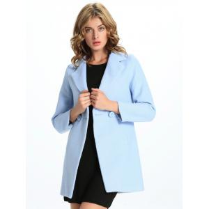 Slim Fit One-Button Lapel Coat -
