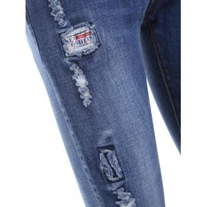 Skinny Ripped Patch Jeans -