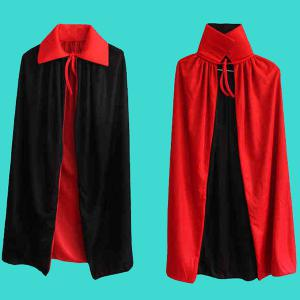 Halloween Party AB Wear Cloak Death Cosplay Costume Supply - RED/BLACK