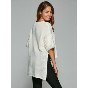 Half Sleeve High Low Pullover Knitwear -