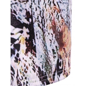 Rivet PU Halter Amazon Rainforest Boa Skin Tank Top -