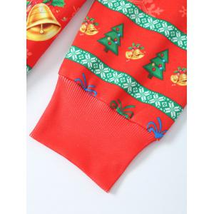 Father Christmas Print Loose Fit Sweatshirt - RED XL