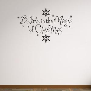 Christmas Snows Removeable Vinyl Wall Stickers Custom -