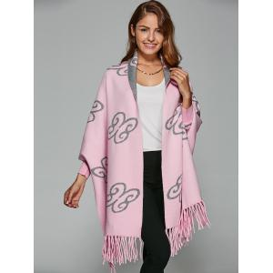 Auspicious Clouds Jacquard Fringed Cape Cardigan -